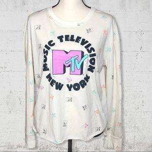 MTV New York Long Sleeve T-Shirt SZ XL